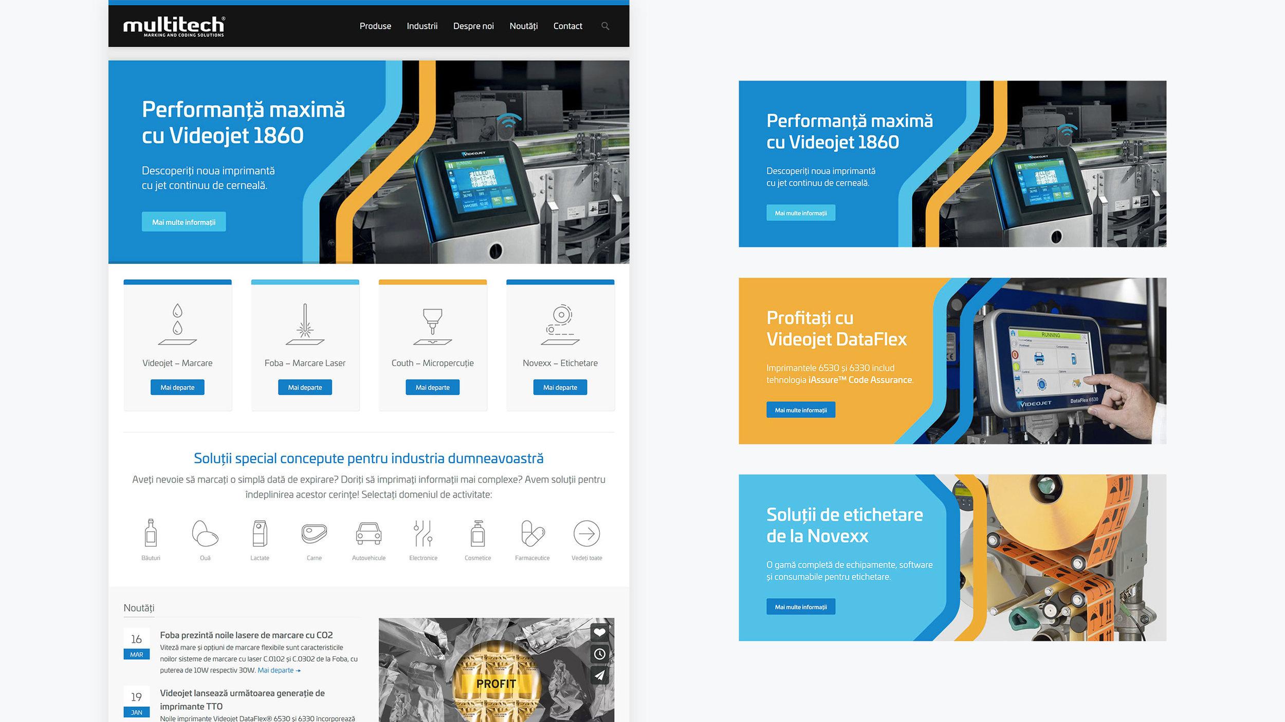 Bisigned - Multitech brand identity design - Website banner design