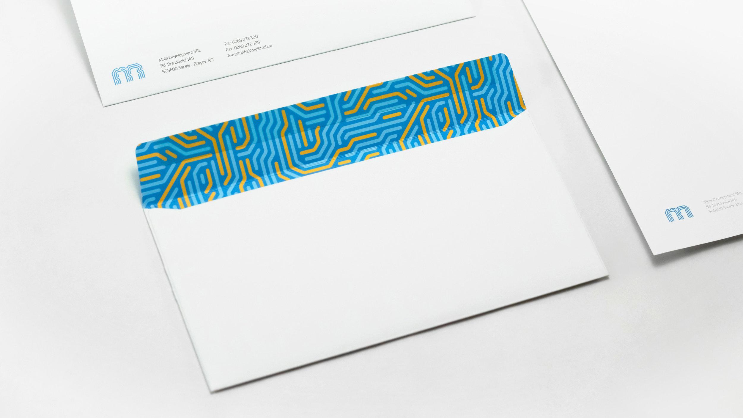 Bisigned - Multitech brand identity design - Stationery design - Envelope