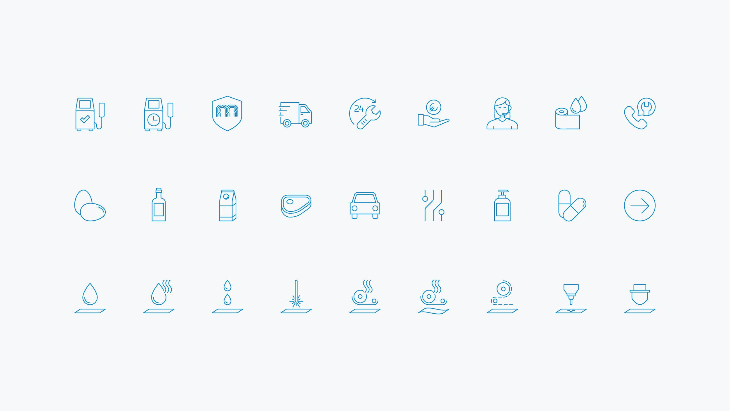 Bisigned - Multitech brand identity design - Icon design