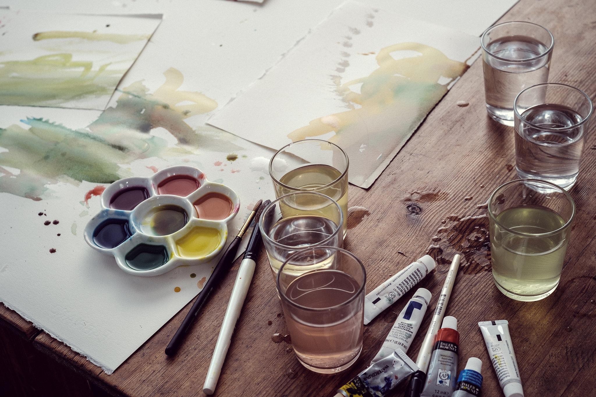 Brillbee-Akvarelle