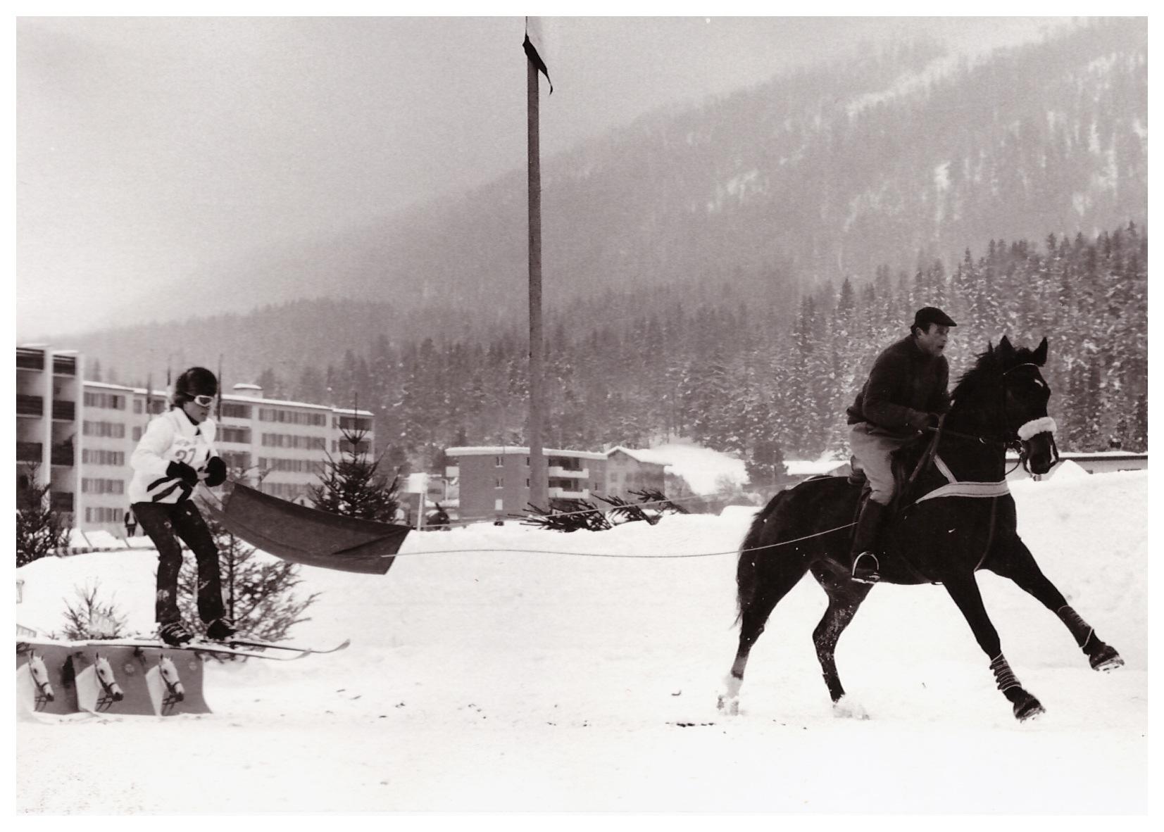 Hans und Jörg Skijöring, St. Moritz 1971
