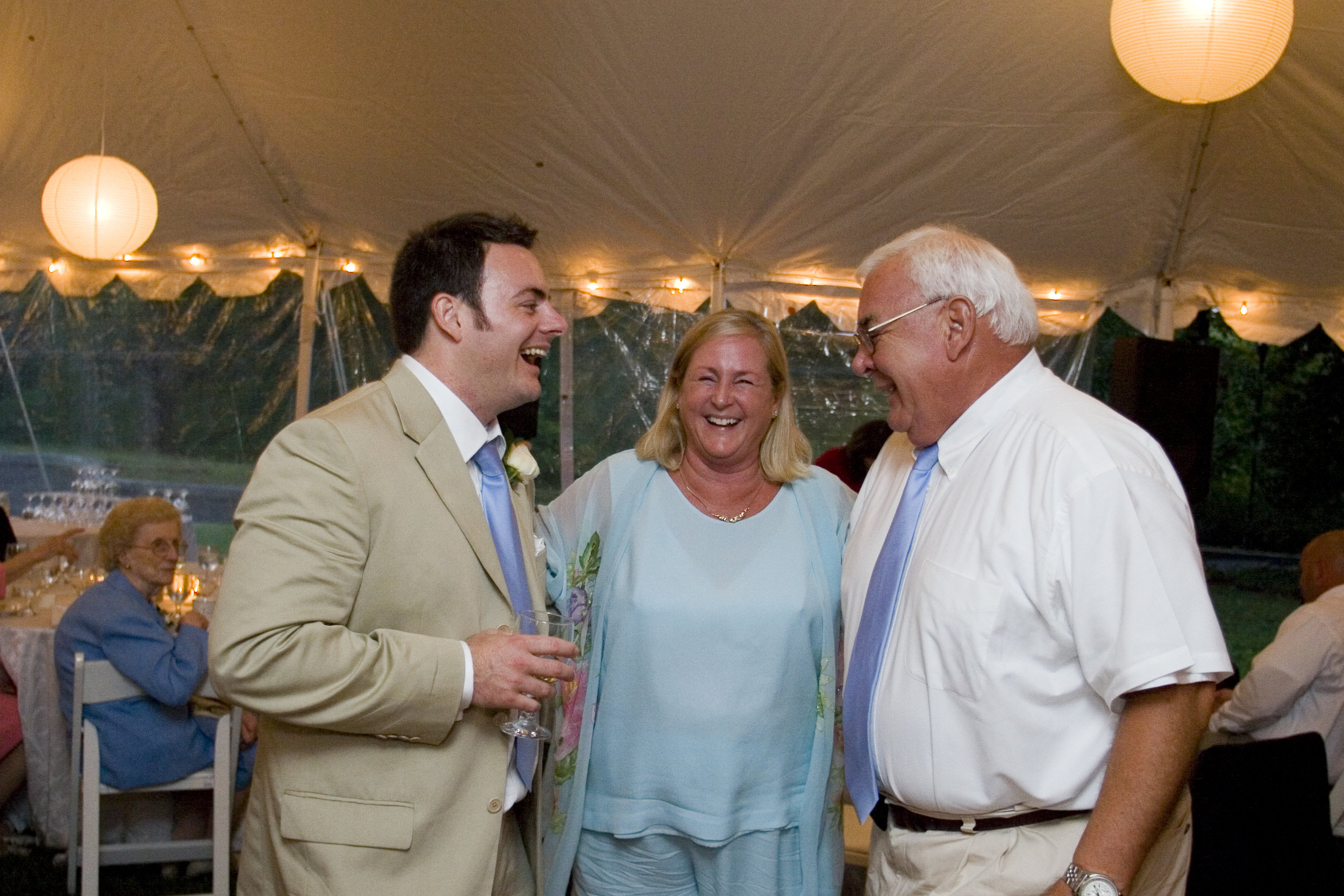 Sharing a laugh with Big Kahuna and my Step-Mother at my wedding (2006)
