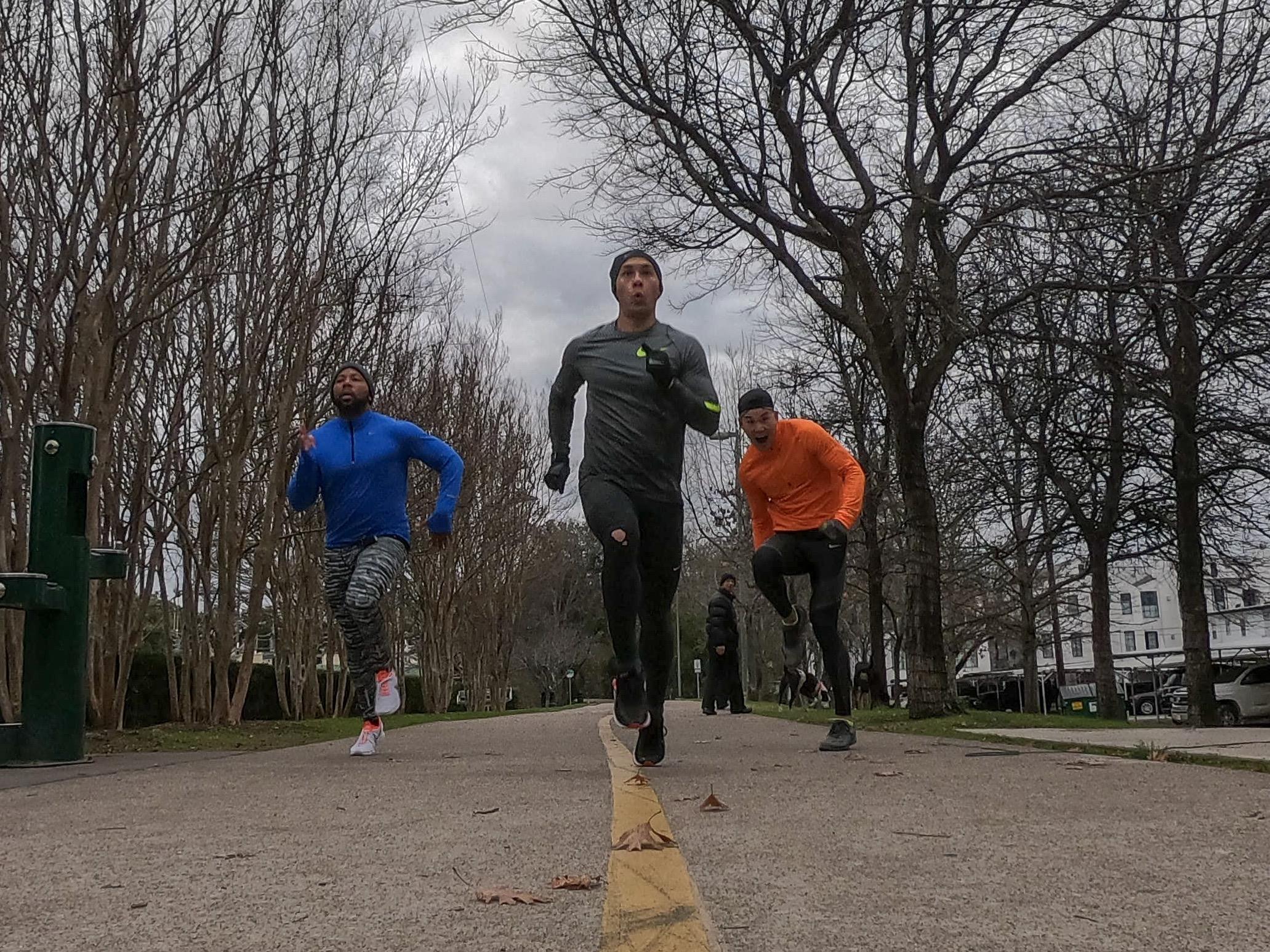 Marathon Squad at Katy Trail in uptown Dallas