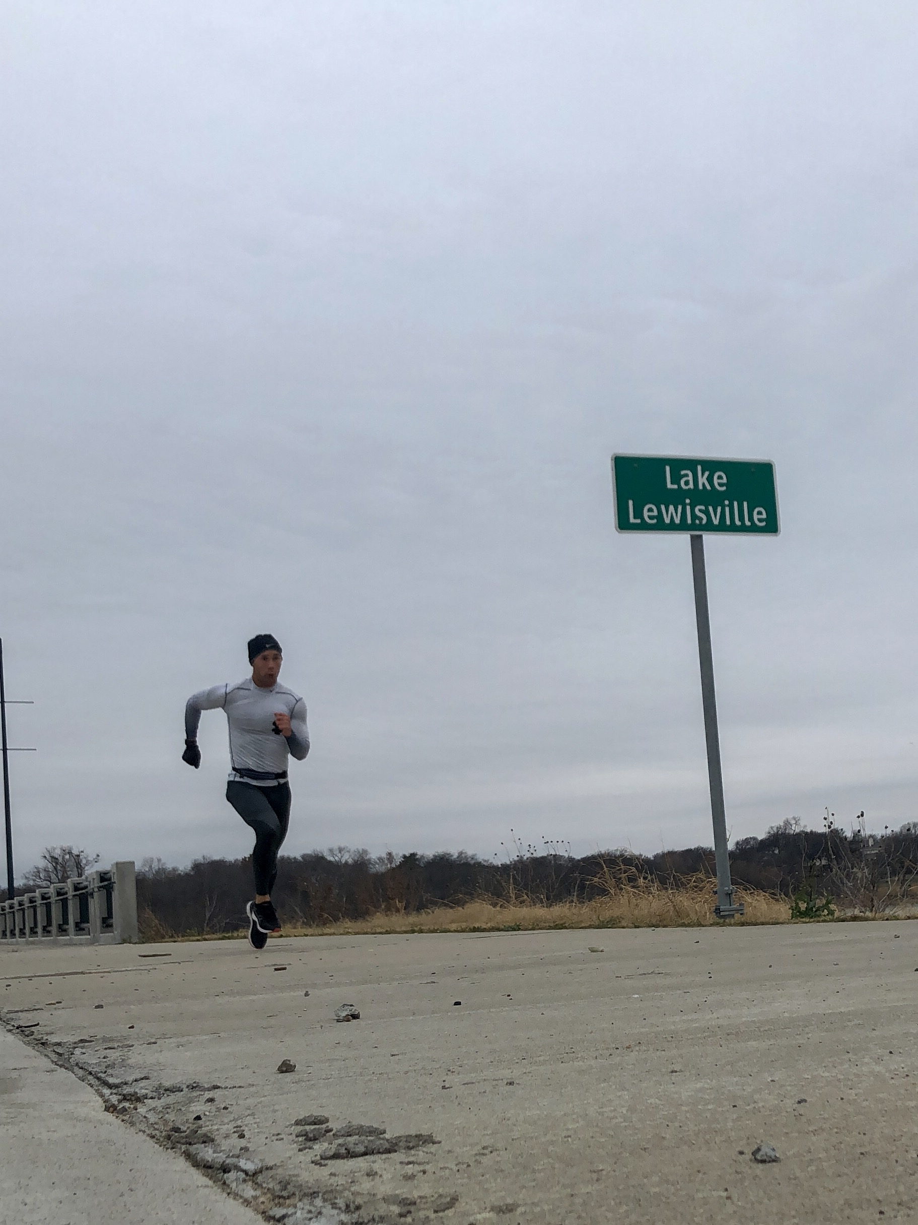 Outrunning the rain near Lake Lewisville in The Colony, Texas