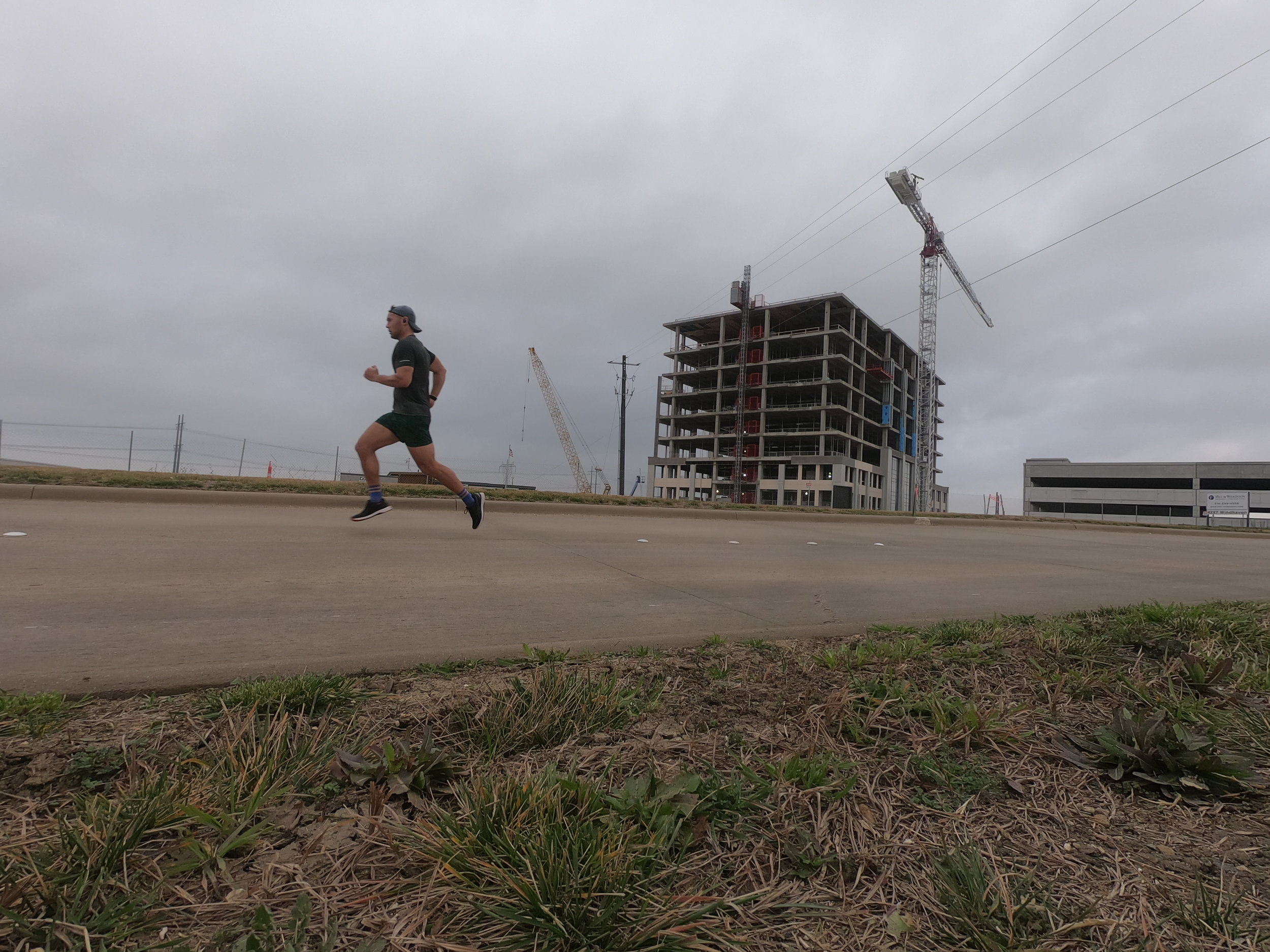 Playing in traffic, running in The Colony, Texas