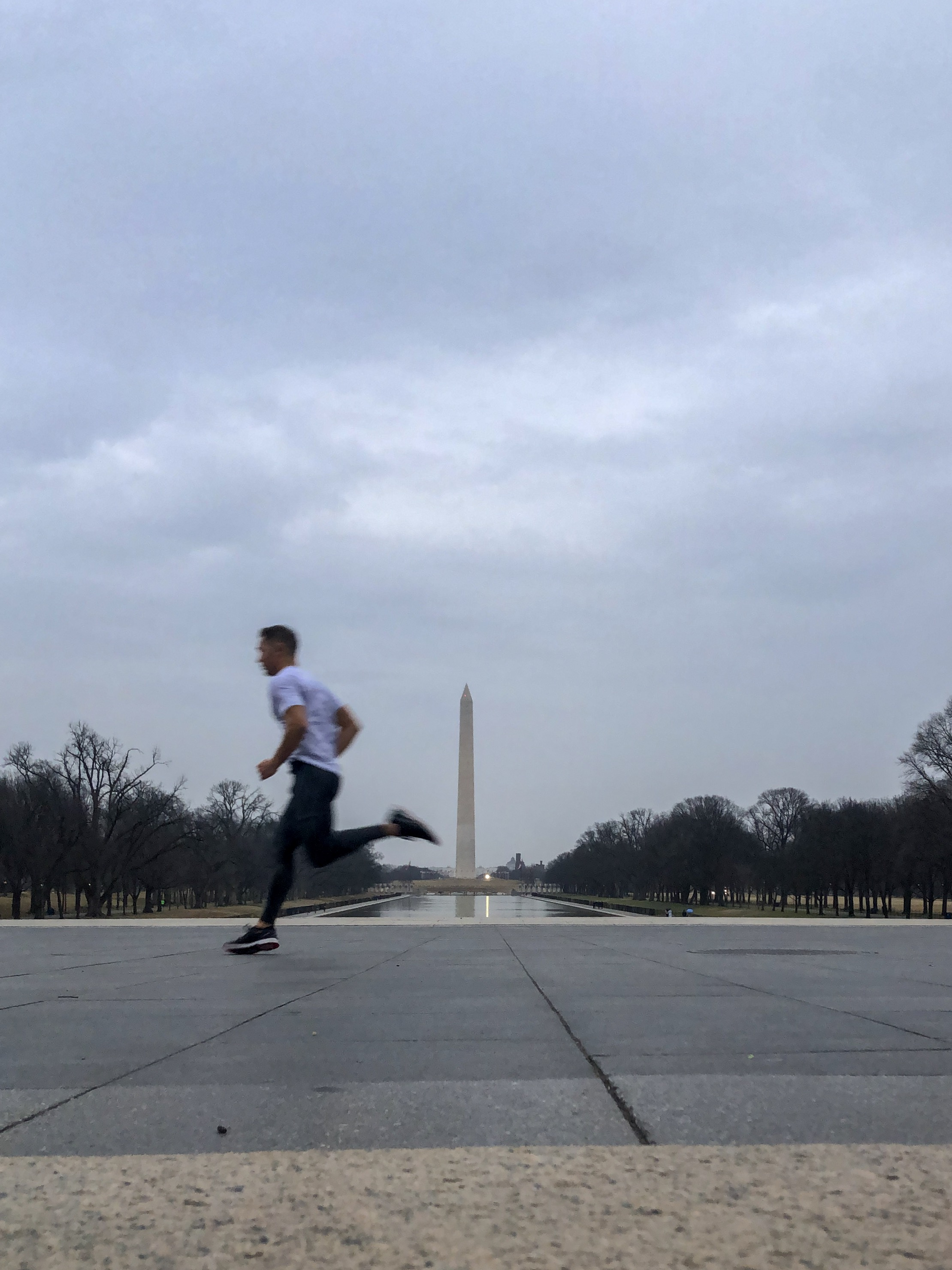 Impromptu running tour of Washington, DC