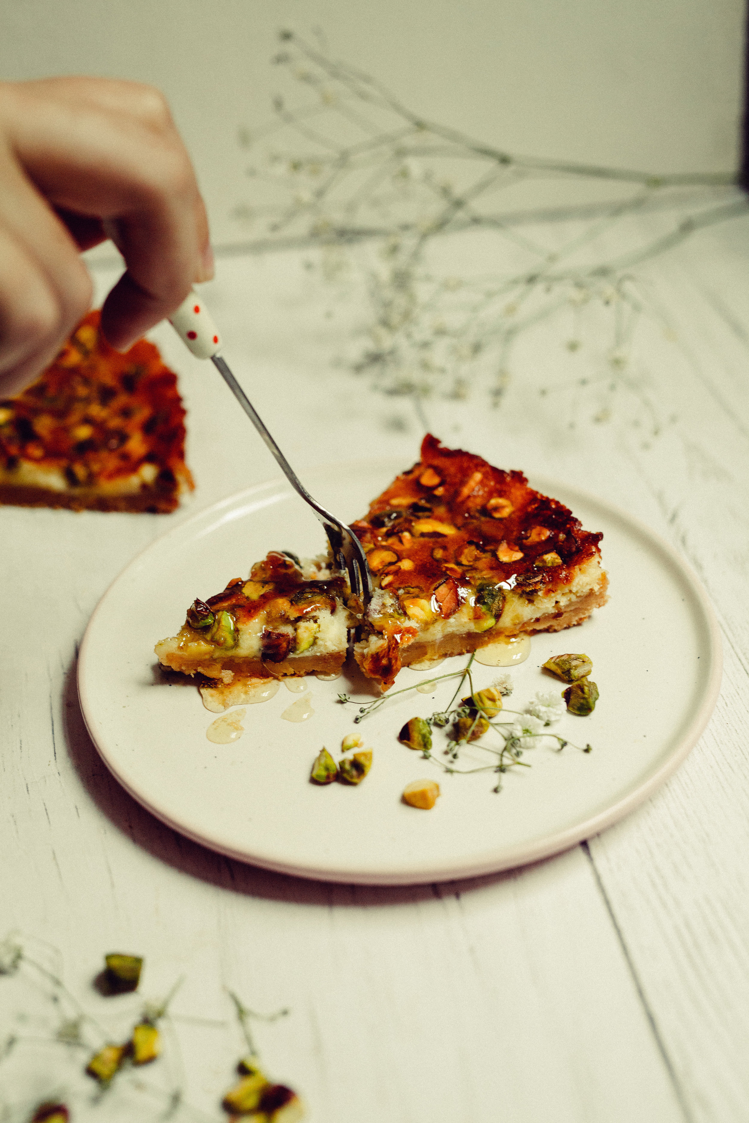 Pistachio, Honey Cheesecake for Syrup Magazine