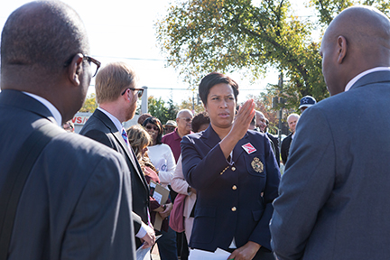 Mayor Muriel Bowser at the Kennedy Street Revitalization Kick Off