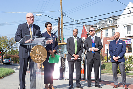 Speakers at the Kennedy Street Revitalization Project Kick Off