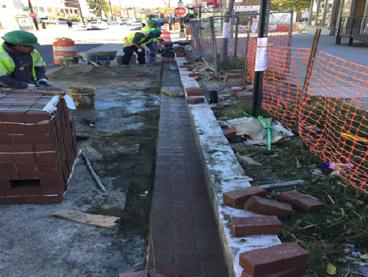 Brick Gutter Installation Sta.26+33RT to Sta.27+50RT