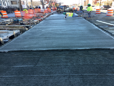 PCC Bus Stop Pad Pour Sta.27+40RT to Sta.28+10RT