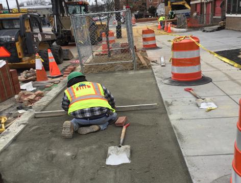 Brick Sidewalk Install House #819