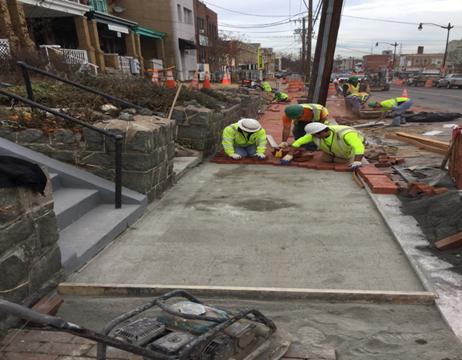 Brick Sidewalk Installation House #731 To #719