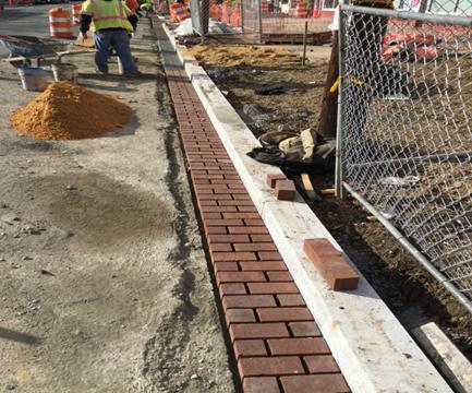 Brick Gutter Installation House #711 to #701 Kennedy ST