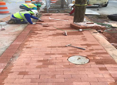 Brick Sidewalk House #717 To #715
