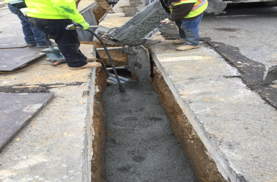 Concrete Encasement Street light Conduit M-20 to C-11
