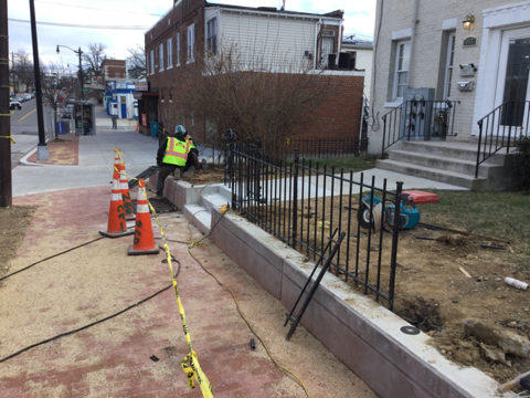 Reinstallation of ornamental fence at stations 39+22RT to 39+56RT