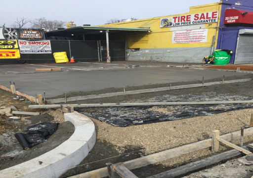 """7"""" PPC Alley / Driveway entrance Poured at Sta.65+75LT"""