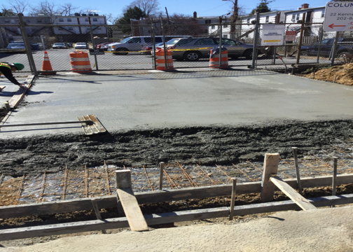 Driveway-Alley PCC was poured from Sta.60+00RT to Sta.60+57RT