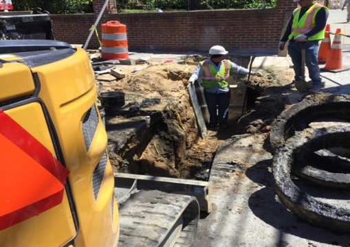 Excavation trench for conduit Pipe from MO-8 to                                      Ex. MH Sta.611+00 RT Kansas Ave