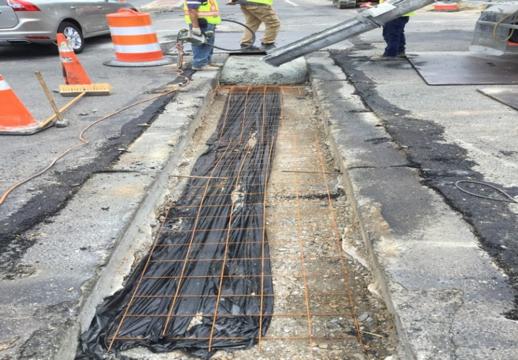 Utility cut prep for concrete pour
