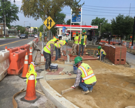 Installation of Brick Sidewalk on PCC Base Sta.47+75RT To Sta.48+75RT