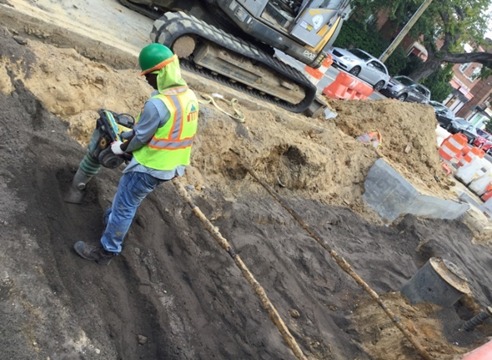Structural Soil Backfill Compaction Bet. BR-C5 to BR-C7