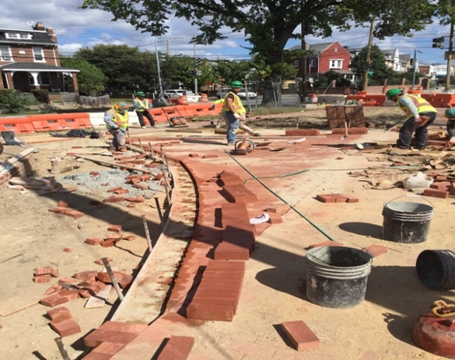 Installation of Brick Sidewalk on 4 Inch PCC Base Sta.508+00 RT Missouri Ave