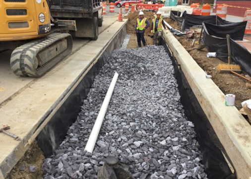 Trench Drain Between DW-201 And BR-C2