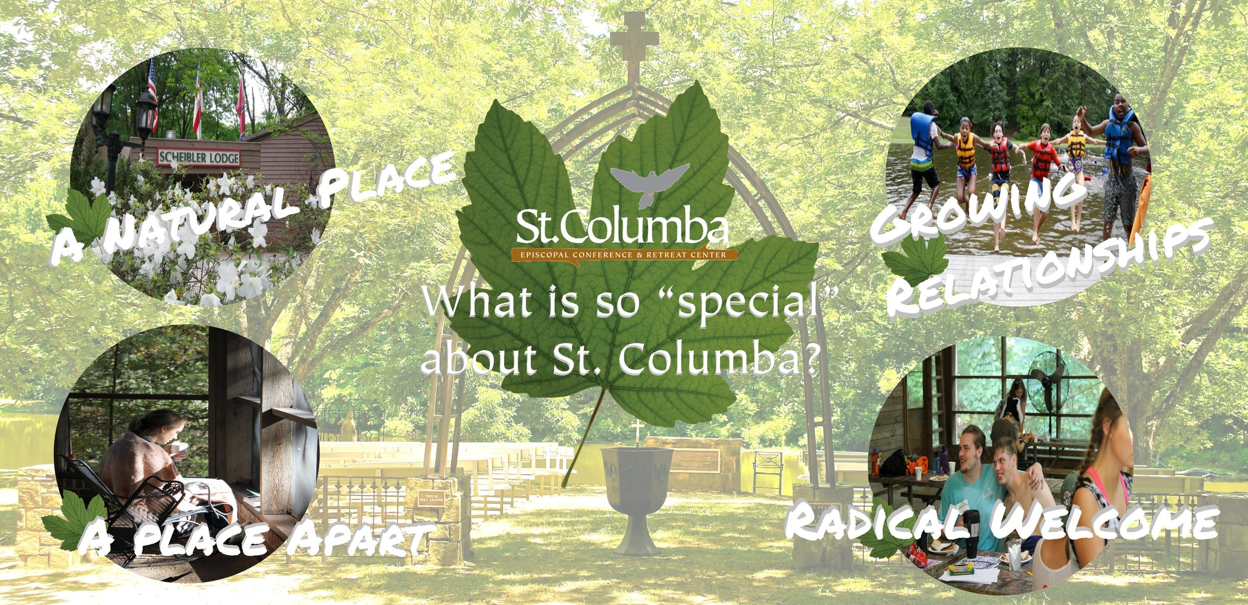 These key ingredients are the things about St. Columba that are valued by the people we serve, and therefore are the untouchable, sacred purposes for our ministry.