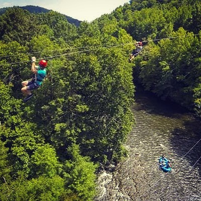 Which would you rather do... zipline through the trees or raft the Ocoee?  Why not do both!  Register for the 2019 Whitewater Excursion this summer!  Limited spot available, make sure one of them is for you! #whitewaterrafting #ziplining  #camping #fearlessfriday Www.saintcolumbamemphis.org/rafting