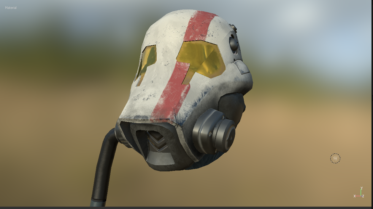 Final textures render in Substance Painter