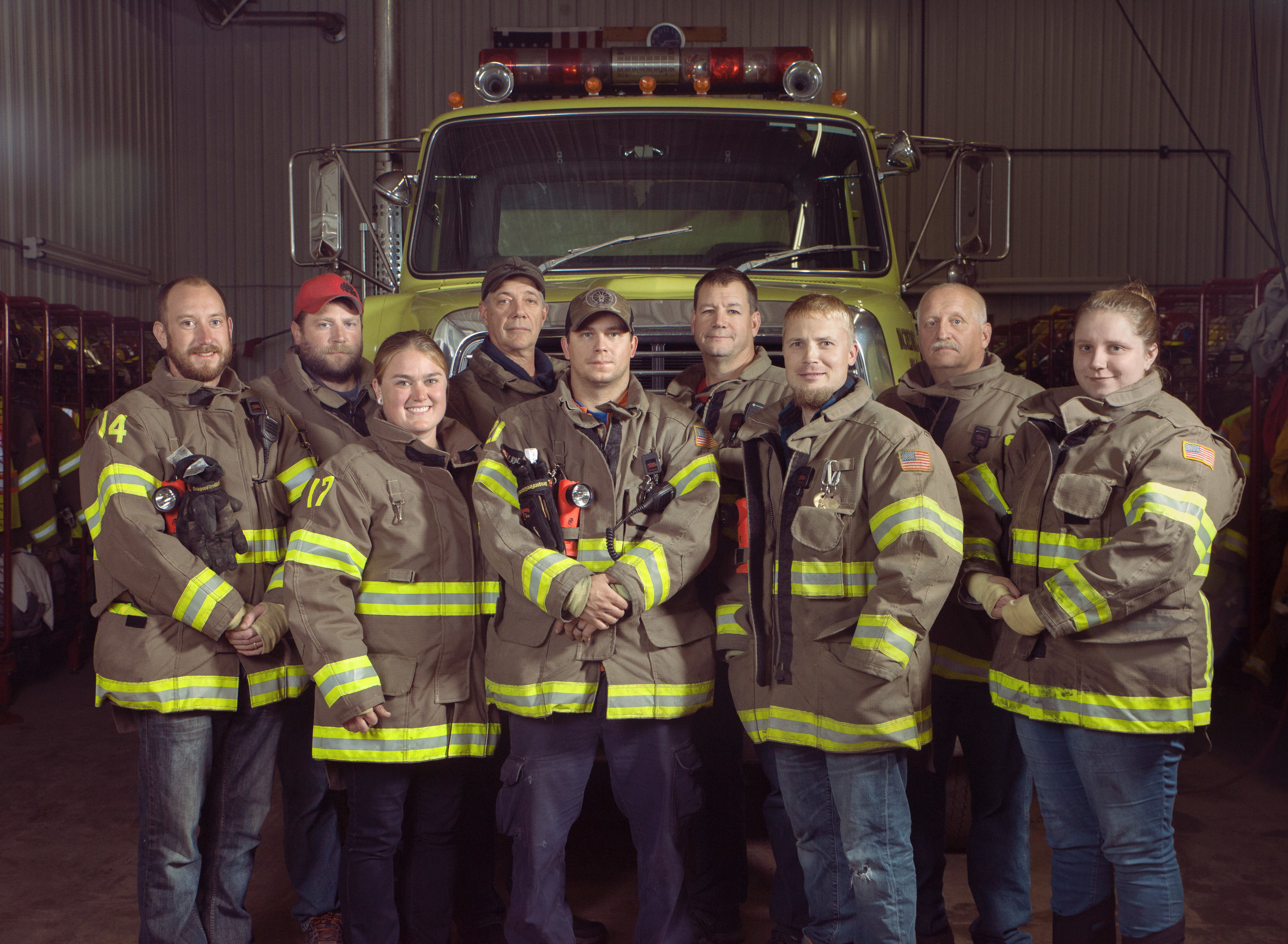 HFD - Back Row: Steve Bartanen, Bill Gierut, Jeff Prophet, Gary LaitalaFront Row: Zach Quayle, Jenni Quayle, Dillon Vial, Brett Kyllonen, Brooke TarvainenNot Pictured:Jim Carlisle, Joe Derocha, Will Derocha, Roy Pascoe, Sanford Pesola, Bill Robson, Craig Thompson, Dave Wasie, Matt Zumpf