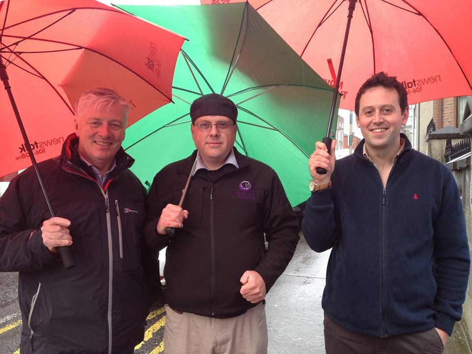 Broadcaster Pat Kenny enjoying a tour with guide Luke Kelly and My Streets organiser Austin Campbell