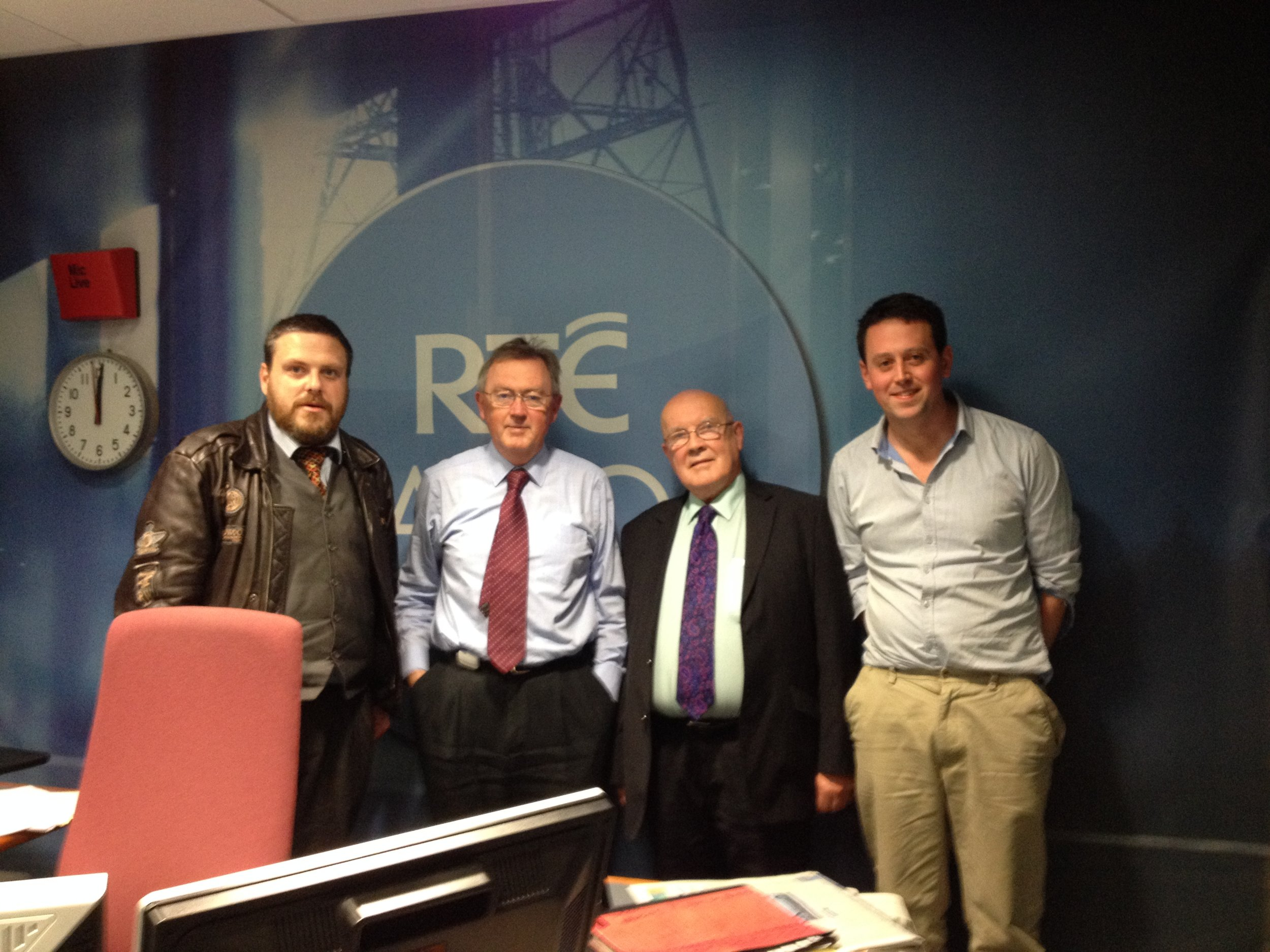 My Streets Tour Guides Luke Kelly, Cyril Carter with Co-Ordinator Austin Campbell post interview with Sean O Rourke