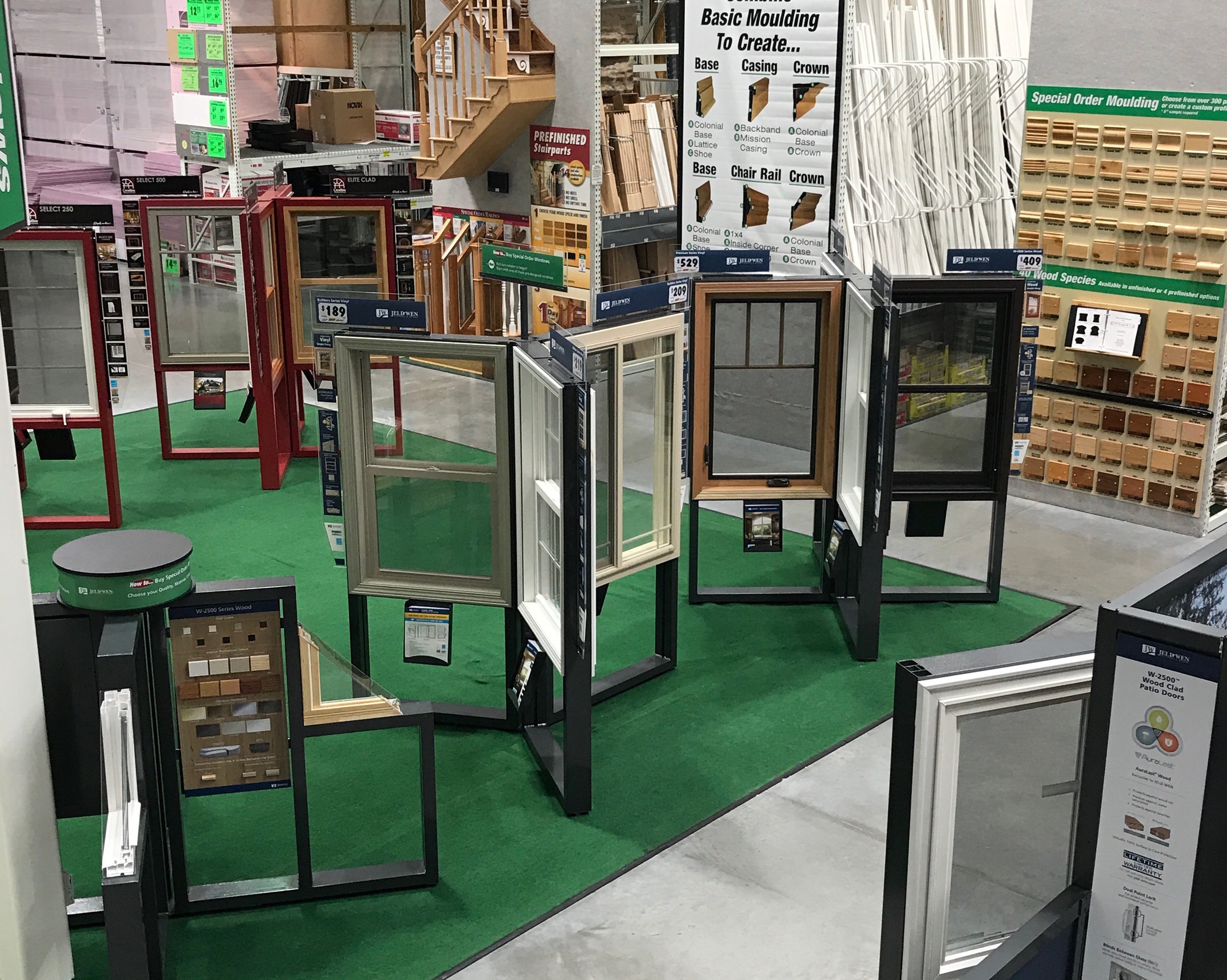 JELD-WEN Retail Fixture Program   When JELD-WEN, Inc. needed to reinvent their current Retail Fixture Program for Menards Stores, AXIS value-engineered and produced a series of customizable fixture options.