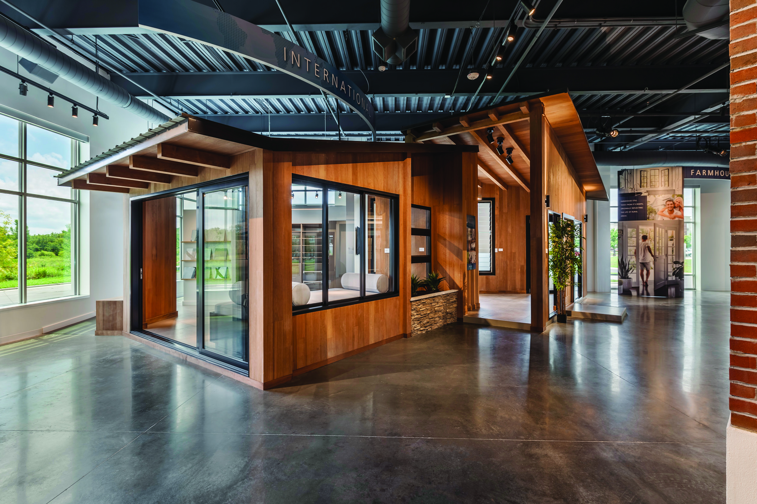 JELD-WEN Flagship Showroom Development   AXIS was asked to participate in the design and development of the company's new HQ and flagship showroom.