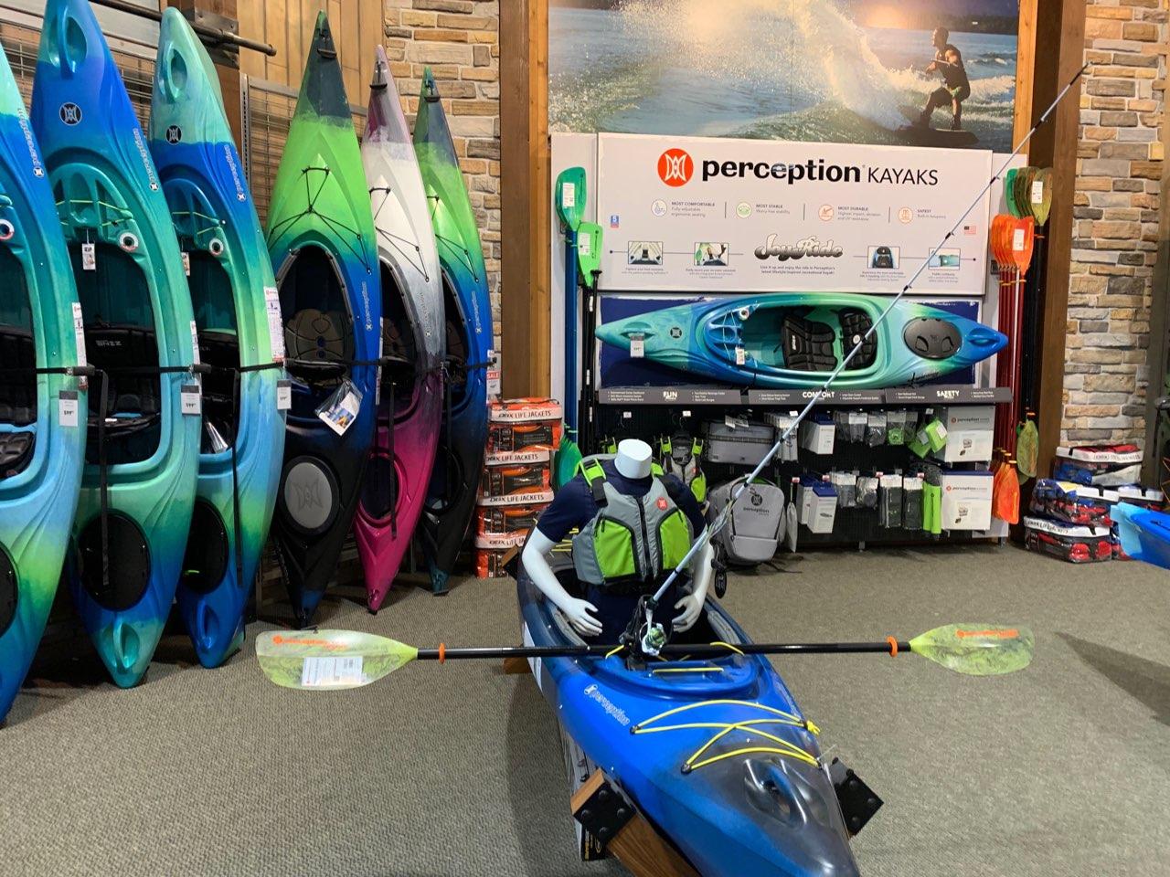 Perception Kayaks Retail Merchandising Display — AXIS