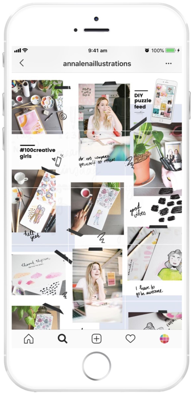 Quel layout choisir pour son compte instagram ? Le puzzle
