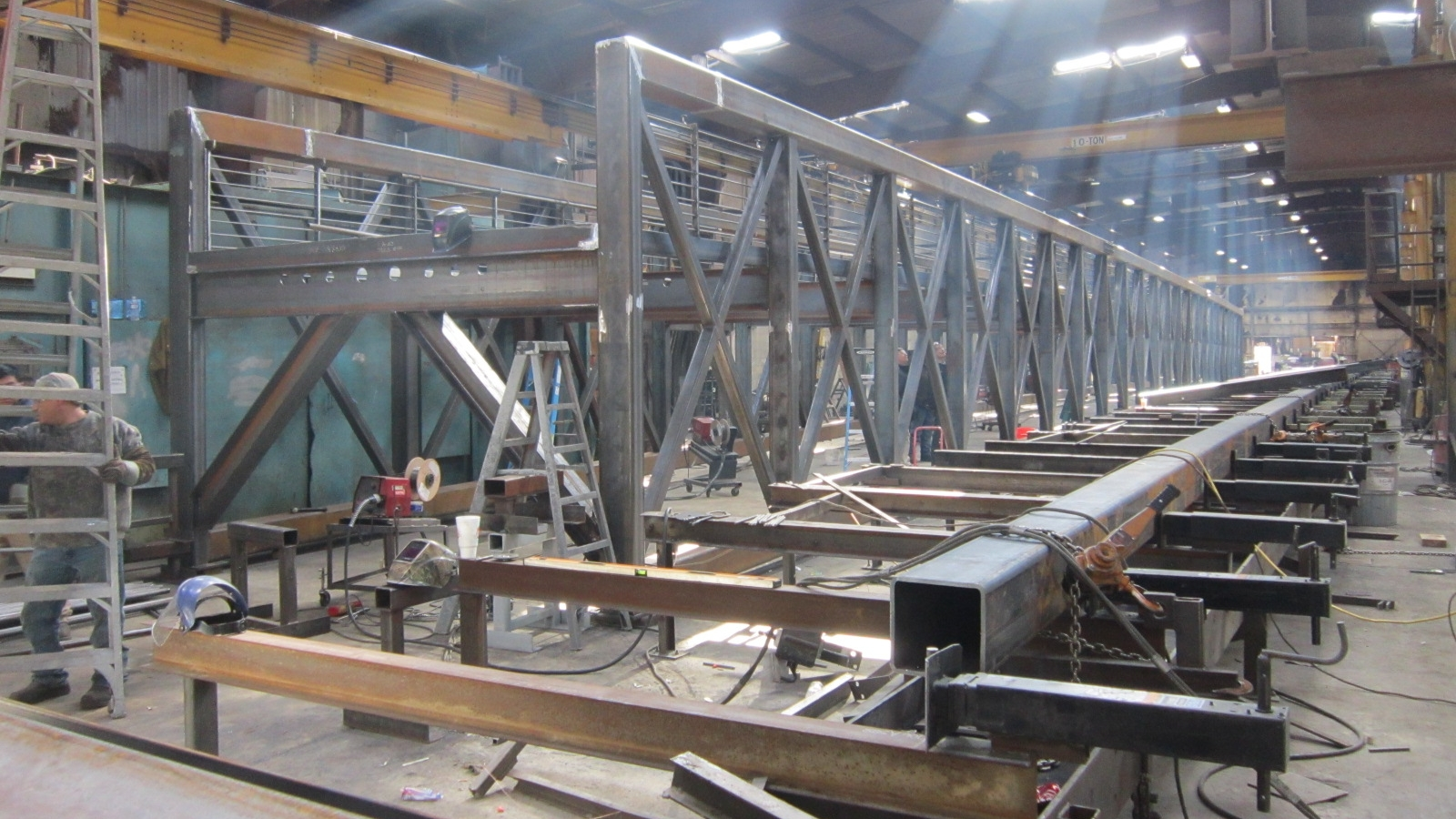 Bridge being fabricated