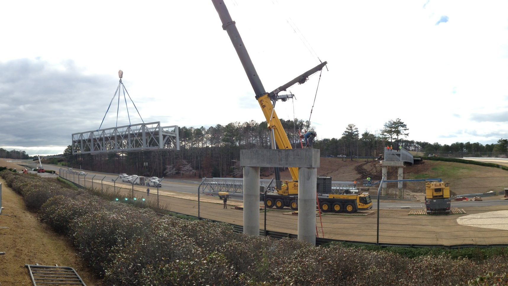 Section being lifted into place