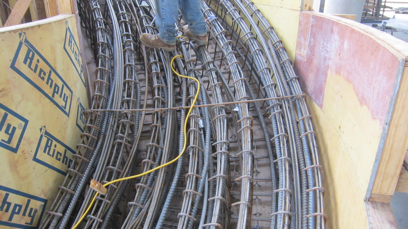 Rebar reinforcment inside the stairs