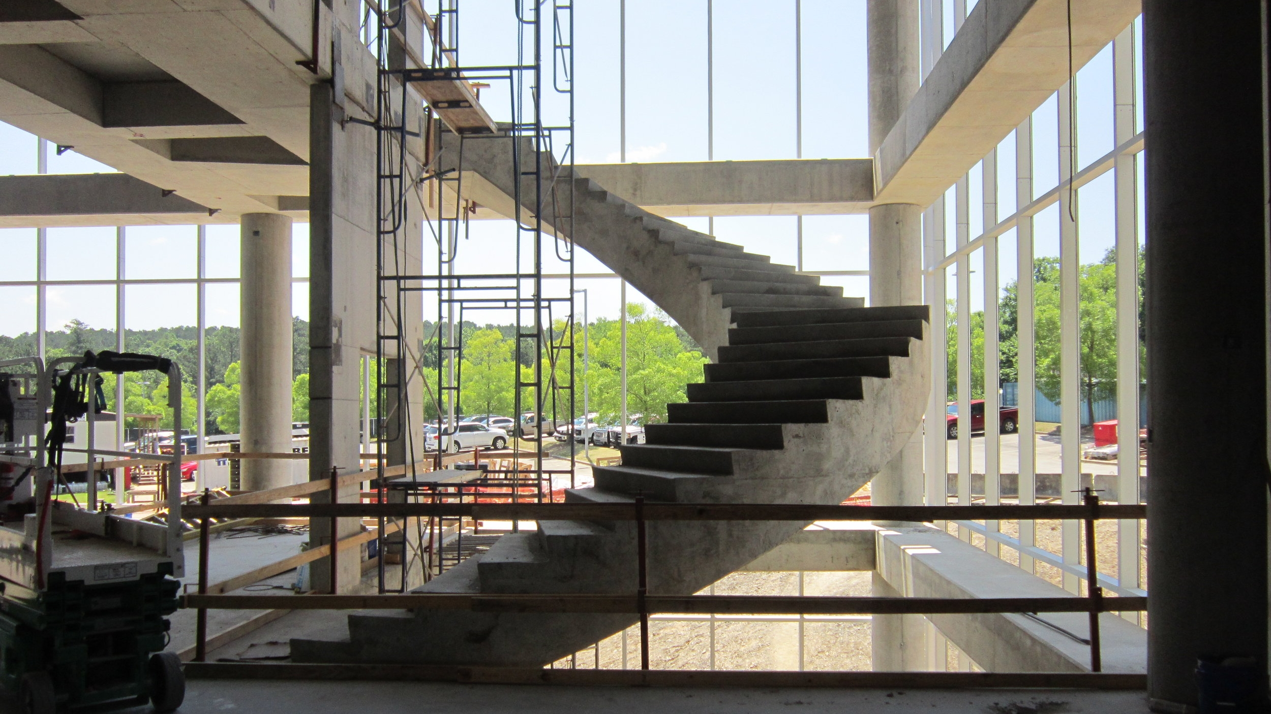 Stairs from second to third floor complete.