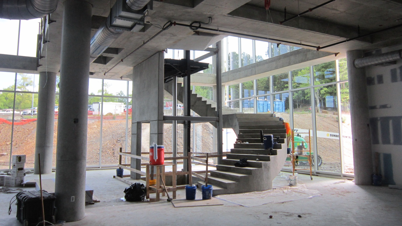 Stairs from first to second floor complete.