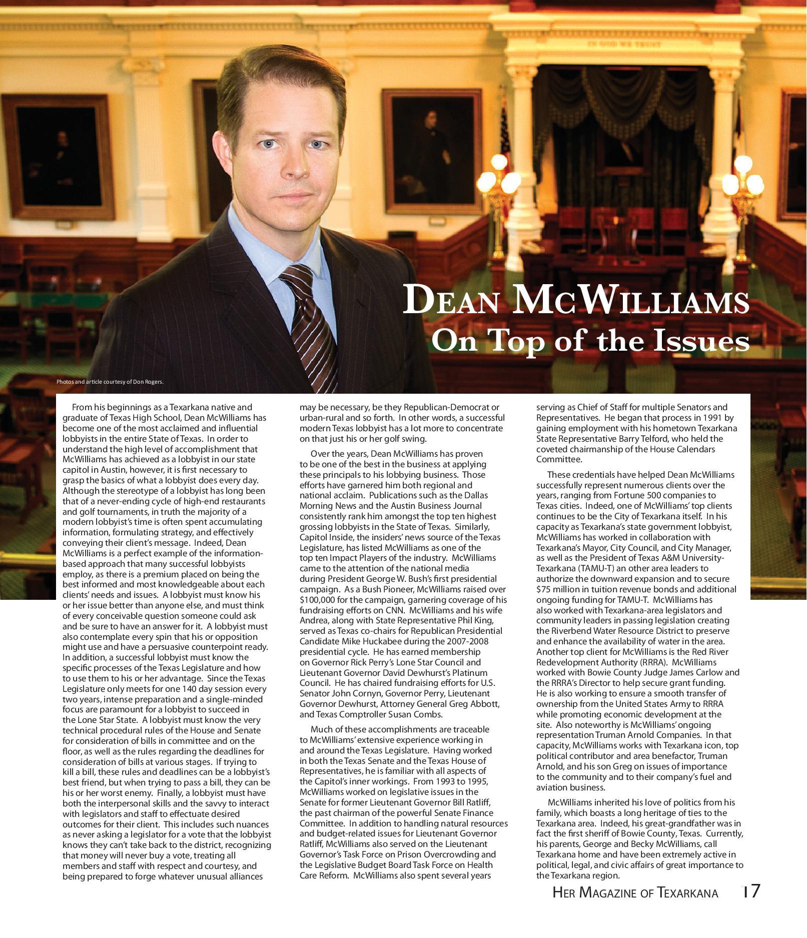Dean McWilliams - HER Magazine