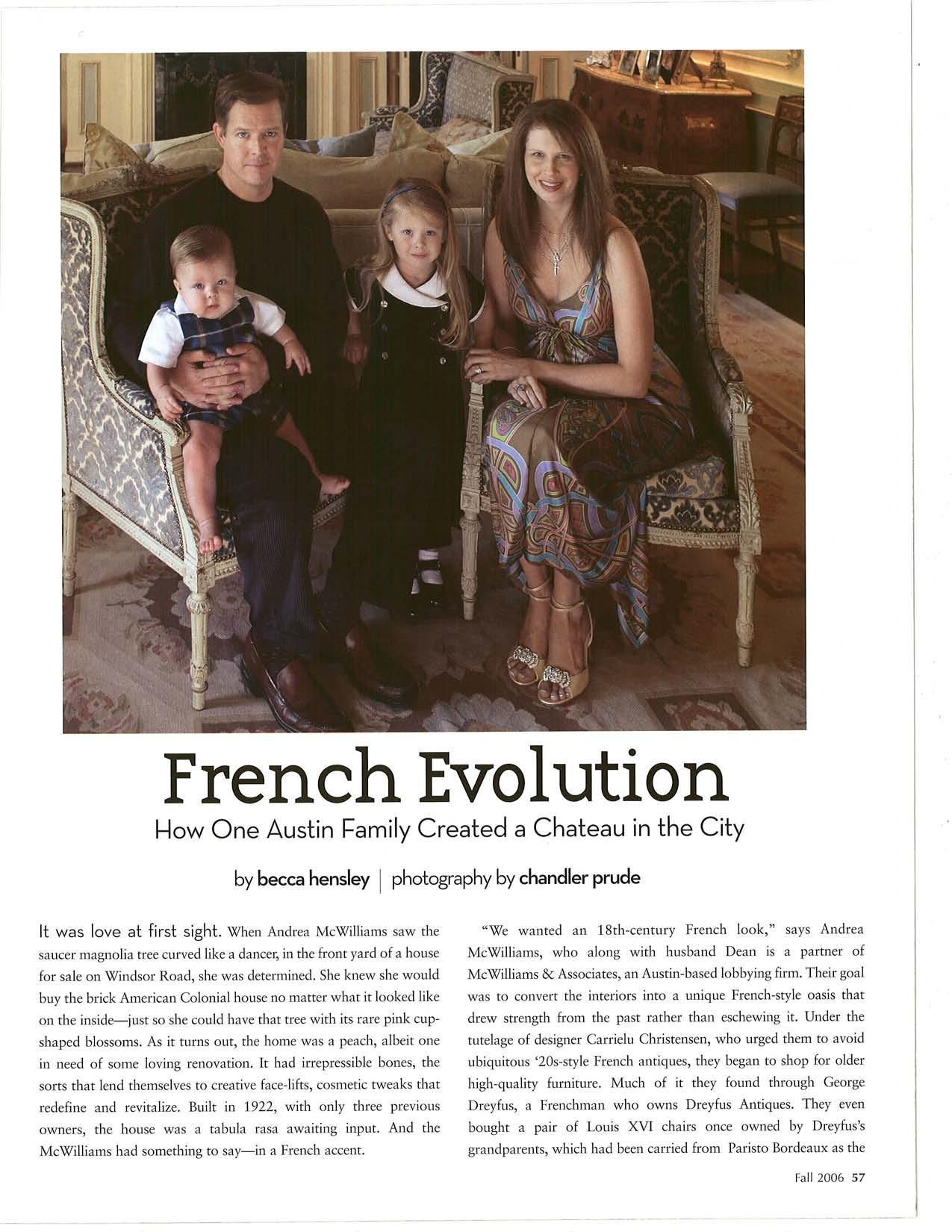 French Evolution - Austin Home Magazine