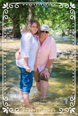 Leslie & Doug Shoemaker at River Bluff Cabins Resort