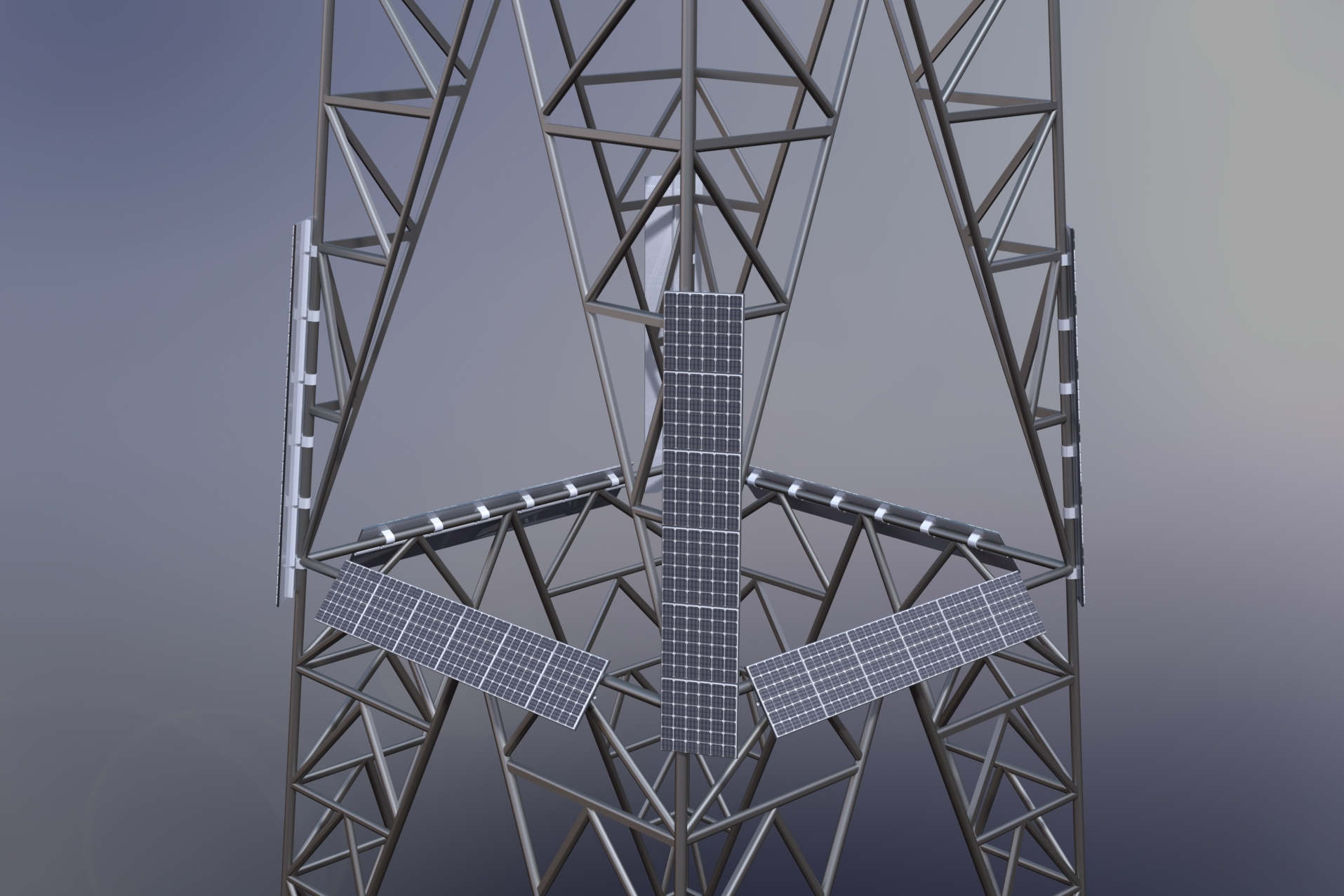 Eifile Lattice Tower Solar Panel Close Up.JPG