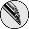Chiba needle point detail