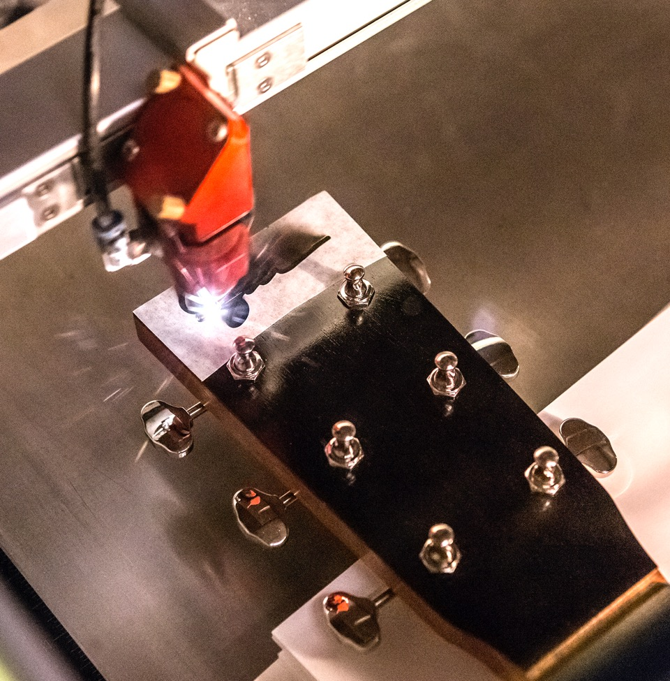 laser engraving ebony